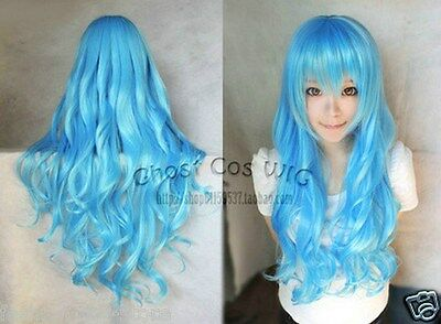 "Fashion Women's Multicolor Wigs Long Curly Anime Cosplay Wig 80cm/32"" New"