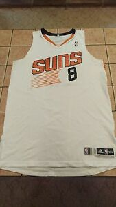 Game Worn Used Adidas Channing Frye Phoenix Suns Home White Jersey ... bd58c7e09