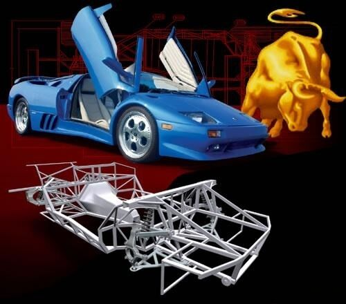 Naerc Chassis Plans - Lamborghini Diablo Kit Car | eBay