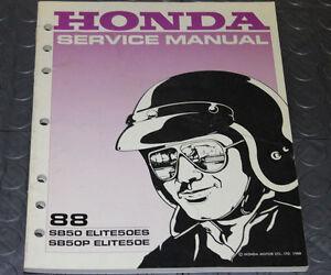 NOS OEM Honda Service Shop Manual NEW 88 SB50 ELITE50ES SB50P ELITE50E