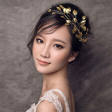 Wedding Bridal Bridesmaid Gold Leaf Hair Accessories Headband Tiara Headpieces