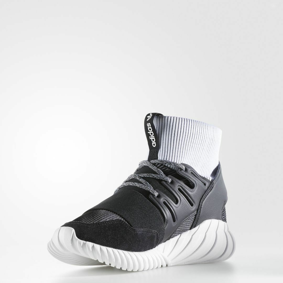 Adidas Tubular Doom Black White   BA7555   Men's AD Yin Yang Knit Yarn Ftw Core