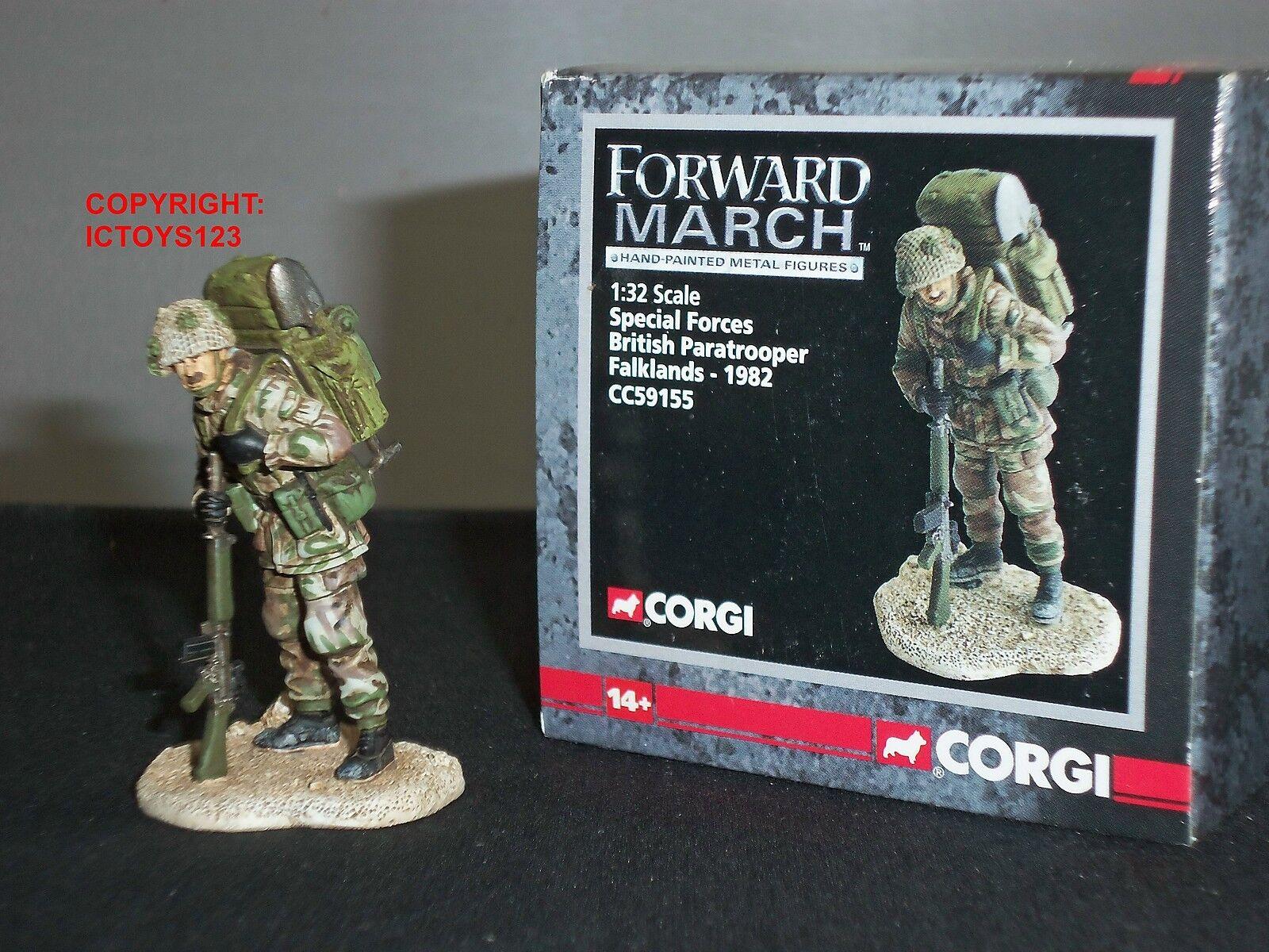 CORGI CC59155 FORWARD MARCH SPECIAL FORCES BRITISH PARATROOPER FALKLANDS WAR