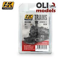 Trains: Locomotive & Wagon Weathering Enamel Set 3x35 Ml - Ak Interactive 7000
