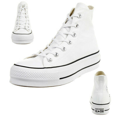 Converse C Taylor all Star Lift Hi Chuck Platform Canvas Optical White 560846C | eBay