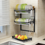 thumbnail 4 - 3-Tier-Dish-Drying-Rack-Dish-Rack-Drainer-Holder-Kitchen-Storage-Space-Saver