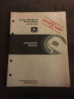 John Deere 50-inch Mid-mount Rotary Mower Operator's Manual