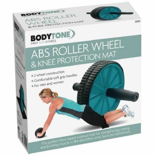 Double AB Roue roller genou Mat Fitness Workout Training Fitness Mat Exercice Gym ca79f0