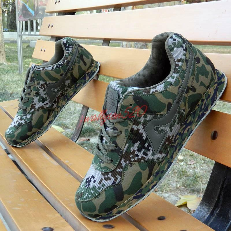 Mens Camo lace up Military Casual Hiking Sneakers Running Athletic Trainer shoes