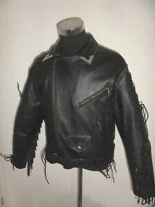 vintage-genuine-leather-Motorradjacke-Leder-Bikerjacke-Motorrad-oldschool-XXXL