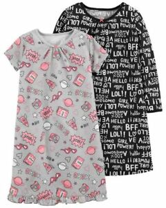 Clothing, Shoes & Accessories Baby & Toddler Clothing Ambitious New Carter's Little Girls' 2-pack Graphic Sleep Gowns Pajamas Sz 4-5 Demand Exceeding Supply