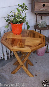 Etonnant Image Is Loading Octagon Hexagon Stained Shiney Wood Wooden Folding Side