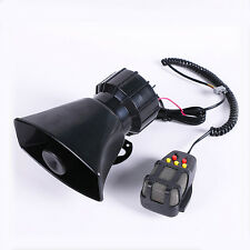 12V 100W Car Truck Alarm Police Fire Loud Speaker PA Siren Horn MIC System Kit