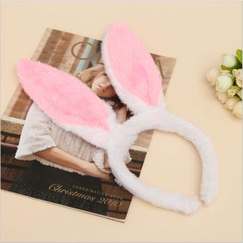 Plüsch Fluffy Bunny Hasenohren Stirnband Kostüm Zubehör Dress Up ZG