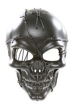 Black Warlord Steam Punk Dead Skull Plastic Mask Masquerade Costume Halloween