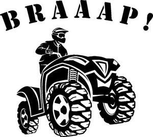 Can Am Four Wheeler >> ATV Quad four wheeler BRAAAP! vinyl decal sticker Honda Yamaha can am Polaris | eBay