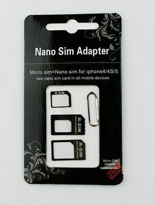 Glorieux Adaptateurs Carte Sim Micro Nano Extracteur Telephone Iphone 4 5g 5s Samsung Htc