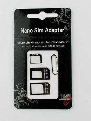 ADAPTATEURS CARTE SIM MICRO NANO EXTRACTEUR TELEPHONE IPHONE 4 5G 5S SAMSUNG HTC