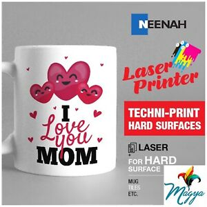 "Hard Surfaces NEENAH TECHNIPRINT HS LASER TRANSFER PAPER 100 SHEETS 8.5/""X11/"""