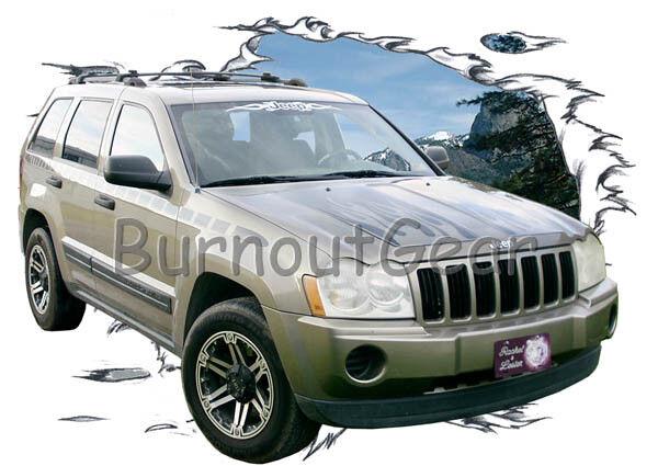 2005 Gold Jeep Cherokee a Custom Hot Rod Mountain T-Shirt 05 Muscle Car Tees