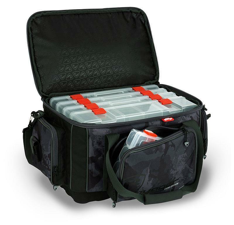 Fox Rage Voyager Camo Large une malette Inc boîtes Pêche bagages