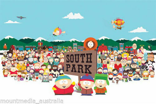 (LAMINATED) SOUTH PARK CHARACTERS POSTER (61x91cm)  PICTURE PRINT NEW ART