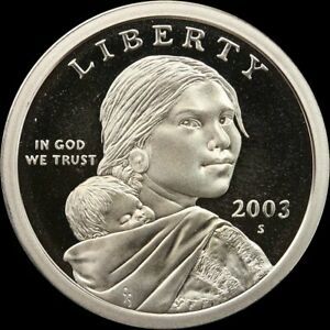 2003-S-Native-American-Sacagawea-Dollar-Gem-Deep-Cameo-PROOF-US-Mint-Coin