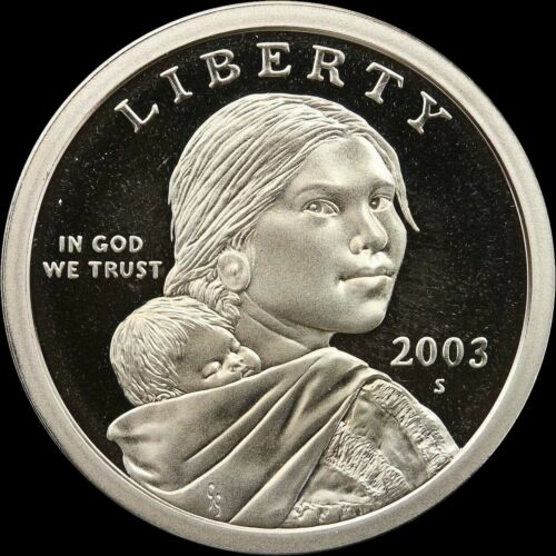 2003 S Native American Sacagawea Dollar Gem Deep Cameo PROOF US Mint Coin