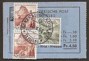 s629-Schweiz-Markenheftchen-1948-MH-0-35c-gestempelt-alle-H-Blaetter-vollstaendig