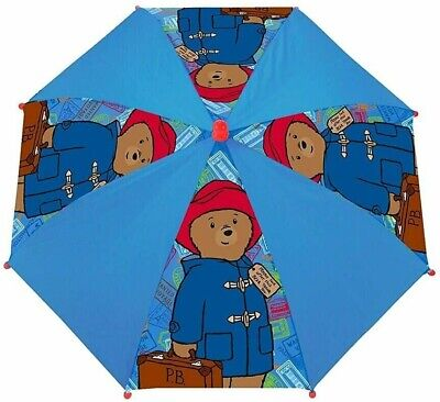 Brioso Paddington Bear P.b. Ragazzi Ragazze Bambini Ombrello Pioggia Scuola Pannello Ombrello Regalo Nuovo-