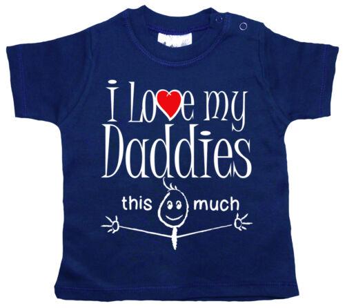 "LGBT Baby T-Shirt /""I Love my Daddies This Much/"" Gay Pride 2 Daddys"