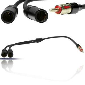 KFZ-Auto-Radio-Y-Adapter-Audio-Splitter-Doppel-DIN-Antenne-Kabel-DIN-TMC