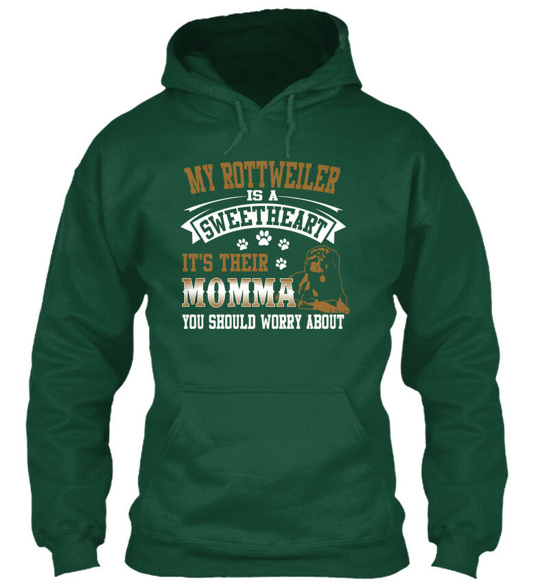 My Rottweiler Is A A A Sweetheart - It's Their Momma You Standard College Hoodie | Langfristiger Ruf