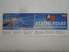 12/1989 PUB LINK MILES BOEING 747 767 737 FLIGHT SIMULATOR ARC FLECHE ARROW AD