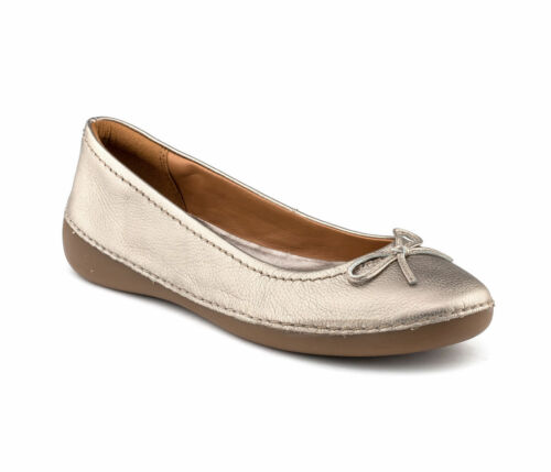 Clarks Womens ** FASHON ICON ** METALLIC Leather ** WIDE-FIT ** UK 3.5,4,5.5,8