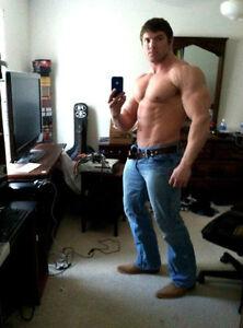 shirtless male bodybuilder muscle hunk huge biceps abs man photo 4x6