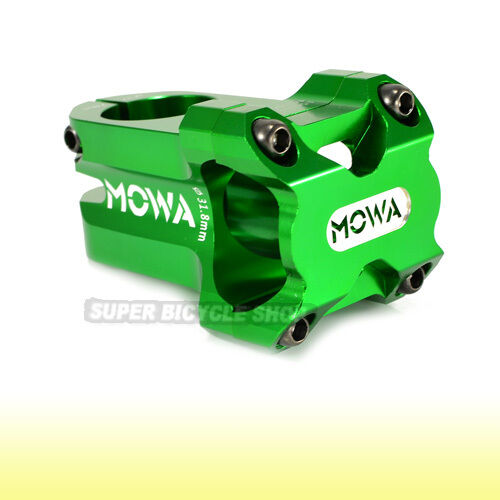 MOWA MARS MTB CNC Alloy Stem  AM FR DH 31.8 x 60mm, Green