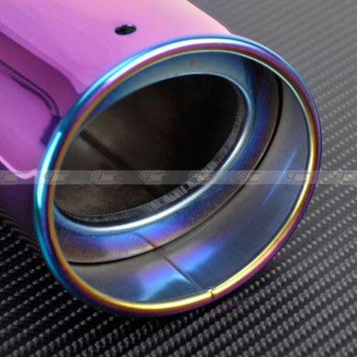 UNIVERSAL STRAIGHT Chrome full color 2.5/' input Exhaust Muffler Tip Pipes