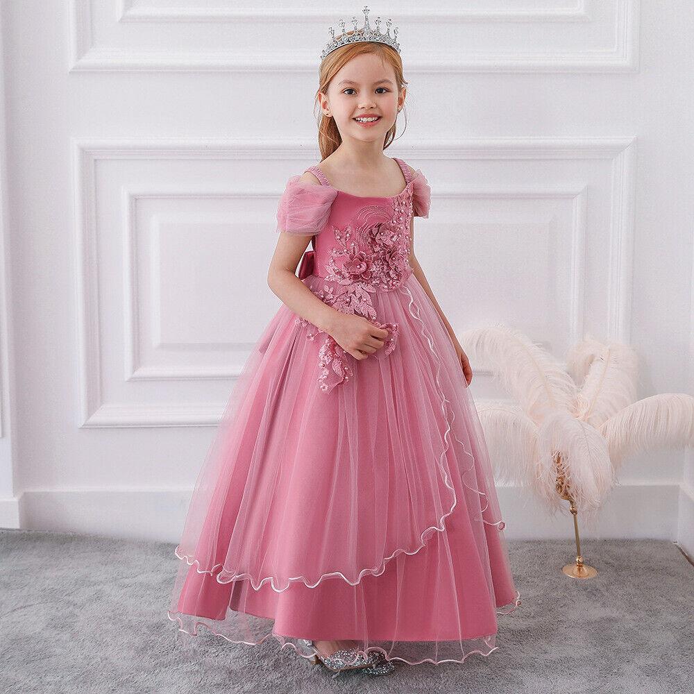 Kid's Dresses Children Clothing Party Princess Flower Girl Dress for wedding