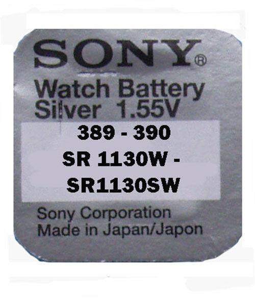 25 x Sony 390   389 Batterie V390 V389 1,55V V 390 SR54W SR1130W SR1130SW   Günstige Preise