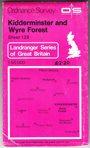 ORDNANCE-SURVEY-LANDRANGER-MAP-KIDDERMINSTER-amp-WYRE-FOREST