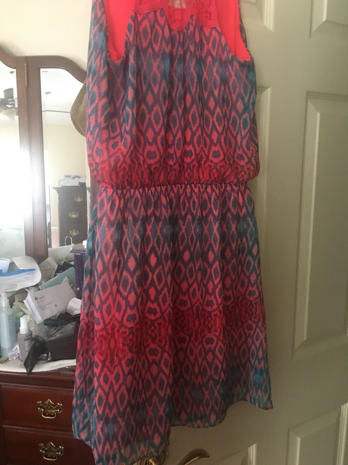 Express Pink turquoise Dress Size Small