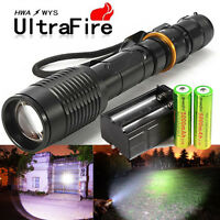 10000lms Cree Xm-l T6 Zoom Led Flashlight Rechargeable 18650 Battery Charger Tr