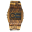 miniature 3 - BEWELL Men Wood Watch Square LED Analog-Digital Multi-function Luminous Watch