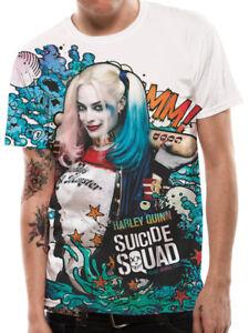 Harley Quinn /'Poster Girl/' 3//4 Length Sleeve Raglan Baseball Shirt OFFICIAL!