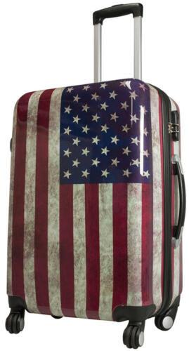 Coque rigide valise Voyage Trolley 4 Roulettes dehnfalte Motif PM Washington taille L