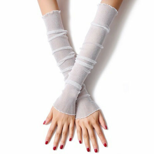 Dual-Use Summer Arm Sleeves Arm Warmers Sun Protection Cover Sunshade Gloves