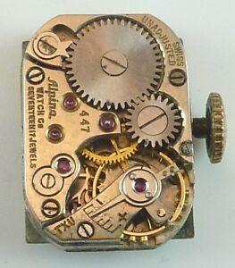 Vintage-Alpina-447-Mechanical-Wristwatch-Movement-Parts-Repair