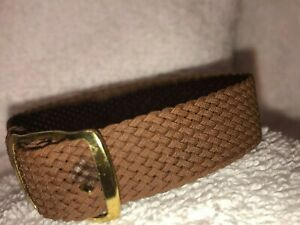 16mm-Perlon-Mesh-Military-1960s-Vintage-Watch-Band-Gold-Buckle-M0NI-M000