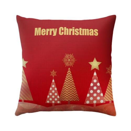 "18/""Christmas Series Cushion Cover Festival Sofa Decorative Throw Pillow Case HL"